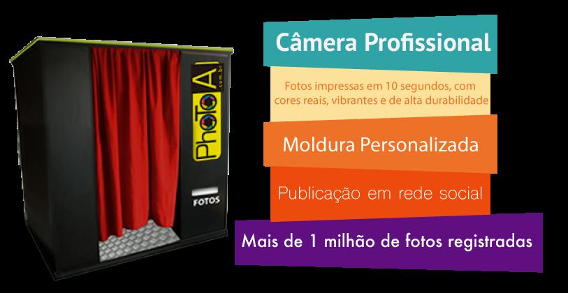 Cabine de Foto Lembrança - Foto cabine - Cabine Fotográfica