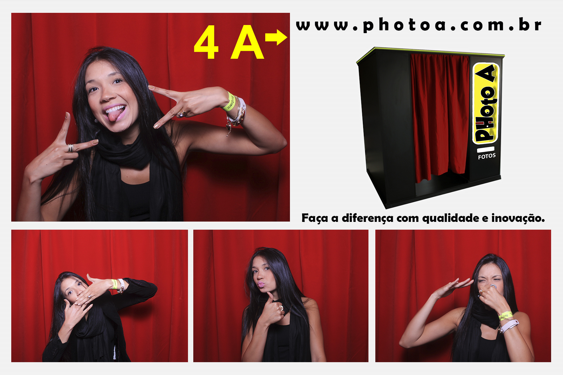 Photo A (exemplo 4) - cabine de fotos - fotocabine - fotos cabine - photo booth - maquina de fotos