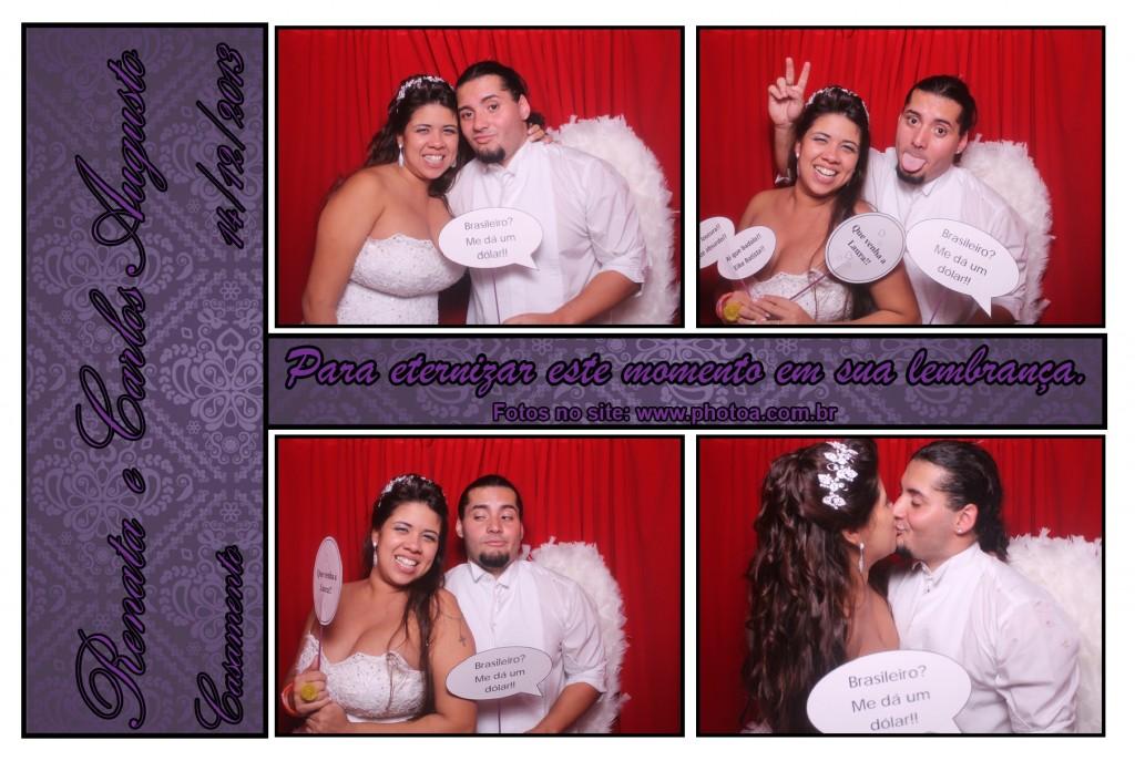 Casamento - Renata e Carlos - Santos | Photo A - Cabine de foto lembrança