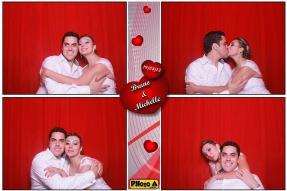 Michelle e Bruno - Photo A | Cabine De Foto Lembrança - Fotocabine