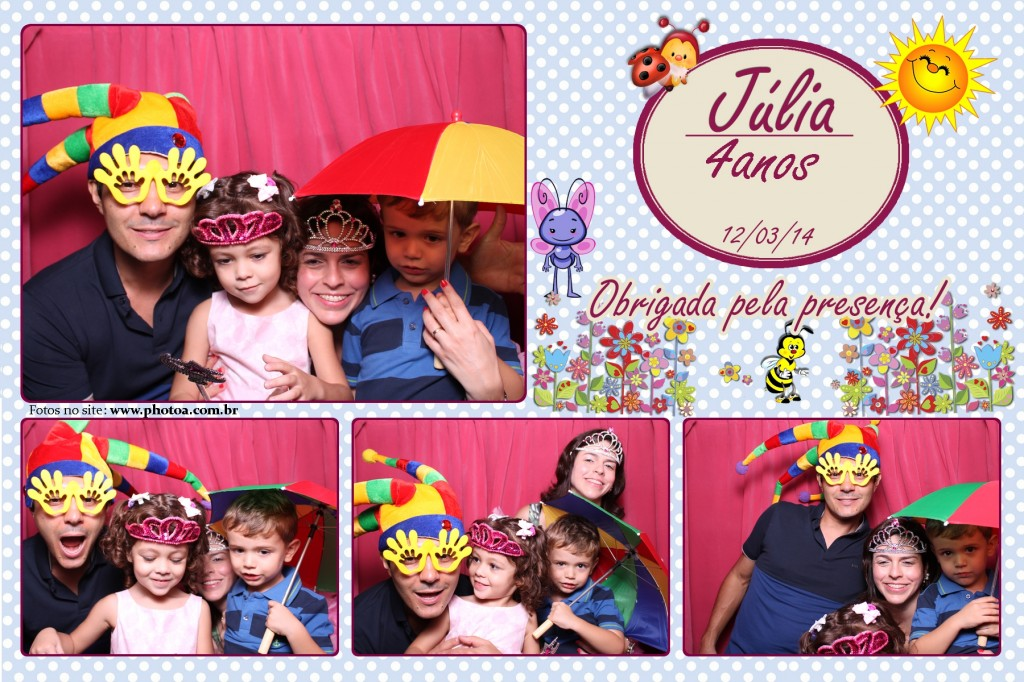Aniversário - Júlia - 4 Anos | Photo A - Cabine de foto Lembraça