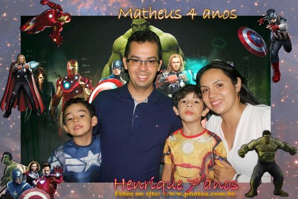 Aniversário - Henrique e Matheus   Totem A - Foto lembrança