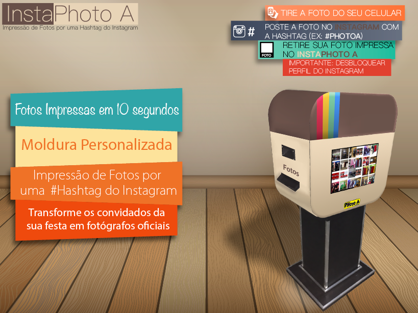 InstaPhoto A - Impressão de Fotos do Instagram por uma HashTag