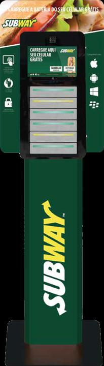Totem carregador de Celular - Subway - Charge A